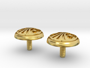 UACM Chinstrap Buttons 1 Set in Polished Brass