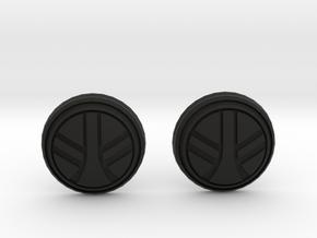 UKCM Chinstrap Buttons 1 Set in Black Premium Versatile Plastic