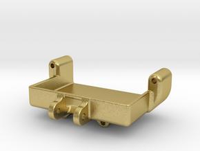 SCX24 Deadbolt Servo mount for Savox SH-0257mg in Natural Brass