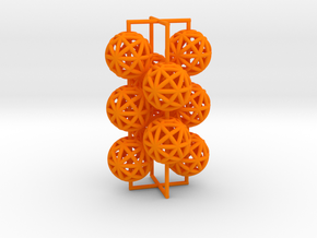 torus_pearl_loop_type4_normal in Orange Processed Versatile Plastic: Medium
