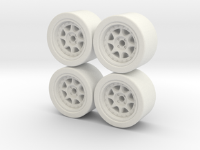 ford rs 200 wheel x4 hotwheels mathbox  in White Natural Versatile Plastic