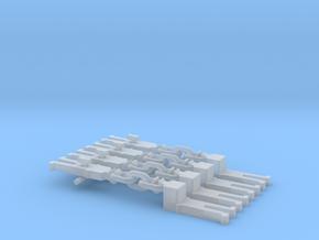 NEM OO Type 10 Couplings - Adaptor 3 Link x4 in Smooth Fine Detail Plastic