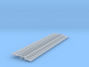 NEM OO Type 11 Couplings - Adaptor 3 Link x25 in Smooth Fine Detail Plastic