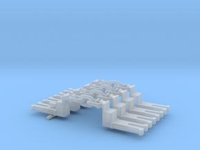 NEM OO Type 13 Couplings - Big-Step Up 3 Link x4 in Smooth Fine Detail Plastic