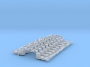 NEM OO Type 13 Couplings - Big-Step Up 3 Link x10 in Smooth Fine Detail Plastic