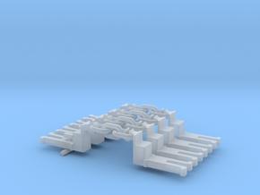 NEM OO Type 15 Couplings - Big-Step Up 3 Link x4 in Smooth Fine Detail Plastic