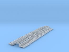 NEM OO Type 15 Couplings - Big-Step Up 3 Link x25 in Smooth Fine Detail Plastic