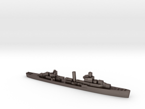USS Sampson destroyer 1940 1:2400 WW2 in Polished Bronzed-Silver Steel