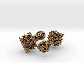 Gyroid Cufflinks in Raw Brass