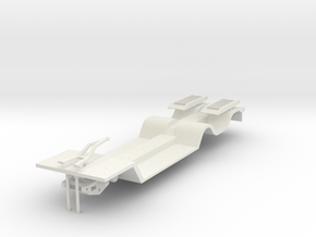 000452 Tieflader, Anhänger HO in White Natural Versatile Plastic: 1:87 - HO