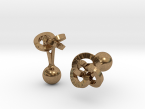 Trefoil Cufflinks in Natural Brass