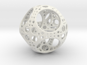 Apollonian Octahedron Mini in White Natural Versatile Plastic