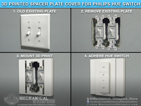 Philips Hue Dimmer Double Gang Plate (US Toggle) in White Natural Versatile Plastic