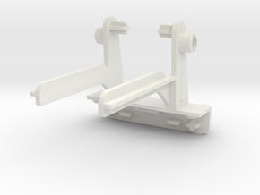 Warbotron Weapon Mount--Back--Rev2 in White Natural Versatile Plastic