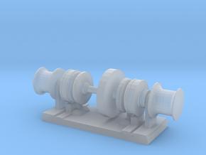 1/192 Scale Symmetrical-Hydraulic-Winch in Smooth Fine Detail Plastic