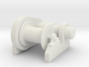 1/72 Scale  Electric Winch in White Natural Versatile Plastic