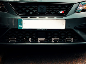 Cupra Lower Grill Letters Outline Only - Full Set in White Natural Versatile Plastic