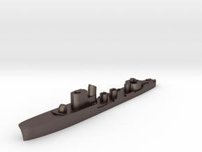 Italian Sirio torpedo boat 1:3000 WW2 in Polished Bronzed-Silver Steel
