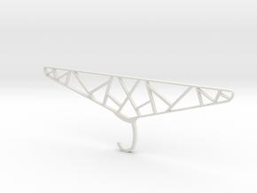 Indestructible Clothes Hanger in White Natural Versatile Plastic
