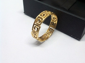 Meander Ring in 18k Gold Plated Brass: 5 / 49