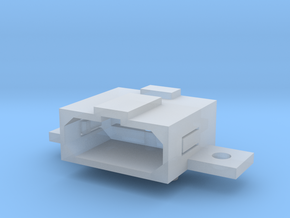 Super Nintendo (SNES) A/V Socket Connector in Smooth Fine Detail Plastic