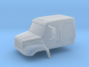 Freightliner Crew Cab Closed Windows 1-87 HO Scale in Smooth Fine Detail Plastic