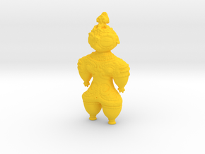 Dogū Doll in Yellow Processed Versatile Plastic