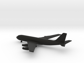 Boeing 707 in Black Natural Versatile Plastic: 1:600