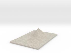 Model of Hushammaren in Natural Sandstone