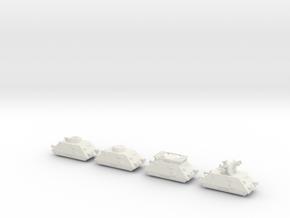 panzer Draisine 1/144 panzerzug  in White Natural Versatile Plastic
