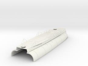 1/35 DKM U-boot VII/C Conning Hull-Deck Kit in White Natural Versatile Plastic