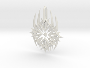 Raizer Logo Pendant in White Natural Versatile Plastic
