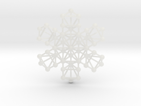 Snowflake of Life in Smooth Fine Detail Plastic