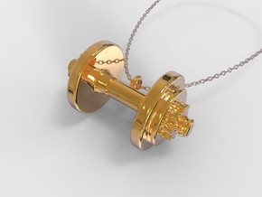 Weight Pendant in 18k Gold Plated Brass