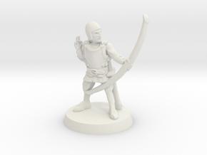 Human archer 28mm scale in White Natural Versatile Plastic