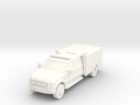 ~1/87 HO Ford F-450 Light Rescue in White Processed Versatile Plastic
