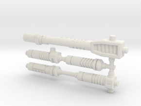 Blast Sabers for TF: Siege in White Natural Versatile Plastic