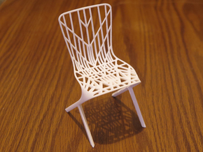 Washington Skeleton Aluminum Side Chair in White Natural Versatile Plastic