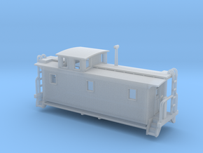 DMIR K1 Woodside Caboose - Nscale in Smooth Fine Detail Plastic