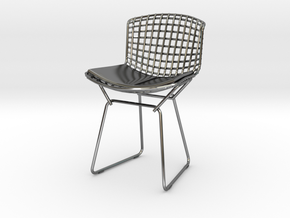 "Knoll Bertoia Side Chair 3.9"" tall in Premium Silver"