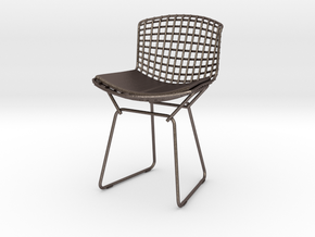"""Knoll Bertoia Side Chair 3.9"""" tall in Polished Bronzed Silver Steel"""
