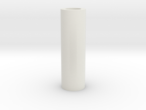 Short Tubular Spacer in White Natural Versatile Plastic