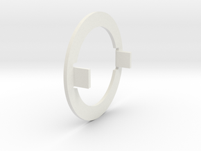 Pressure Ring with 2 Lugs in White Natural Versatile Plastic