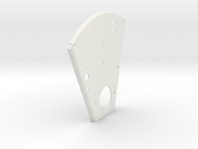 Front Plate in White Natural Versatile Plastic