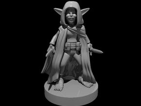 Goblin Female Rogue two Daggers in Smooth Fine Detail Plastic
