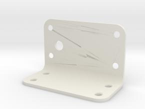 Bracket in White Natural Versatile Plastic