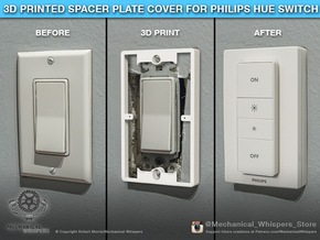 Philips Hue Dimmer Switch Spacer Plate (US Decora) in White Natural Versatile Plastic