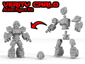 Verity Carlo Figure Kit in White Natural Versatile Plastic: Medium