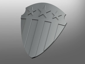 Avengis ptrn Energy Kite Shield (right hand) in Smooth Fine Detail Plastic