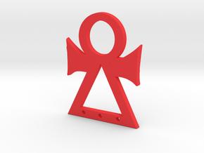 Tanit symbol in Red Processed Versatile Plastic